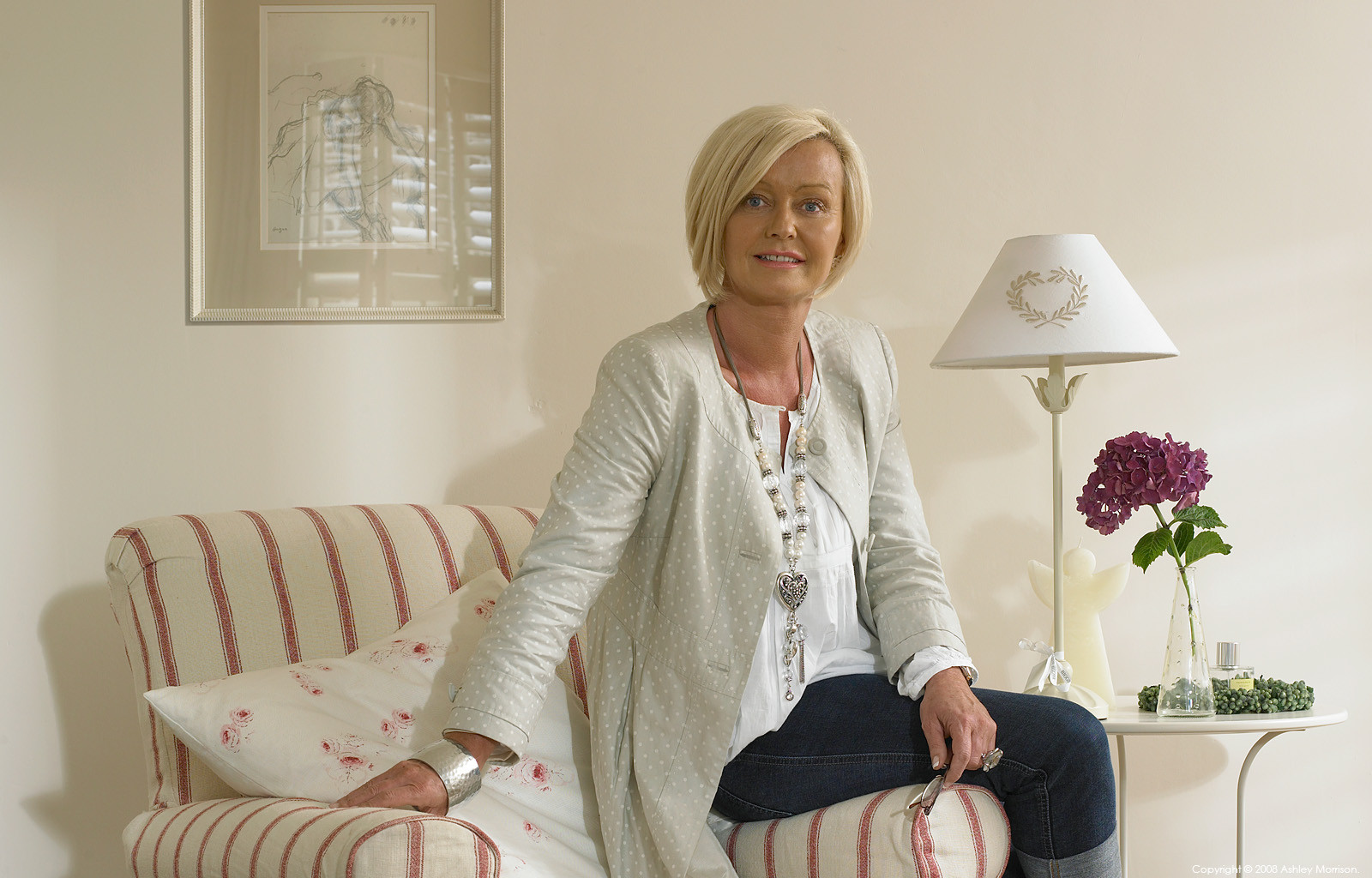 Yolanda Cubitt in her cottage near Ballymena in County Antrim by Ashley Morrison.