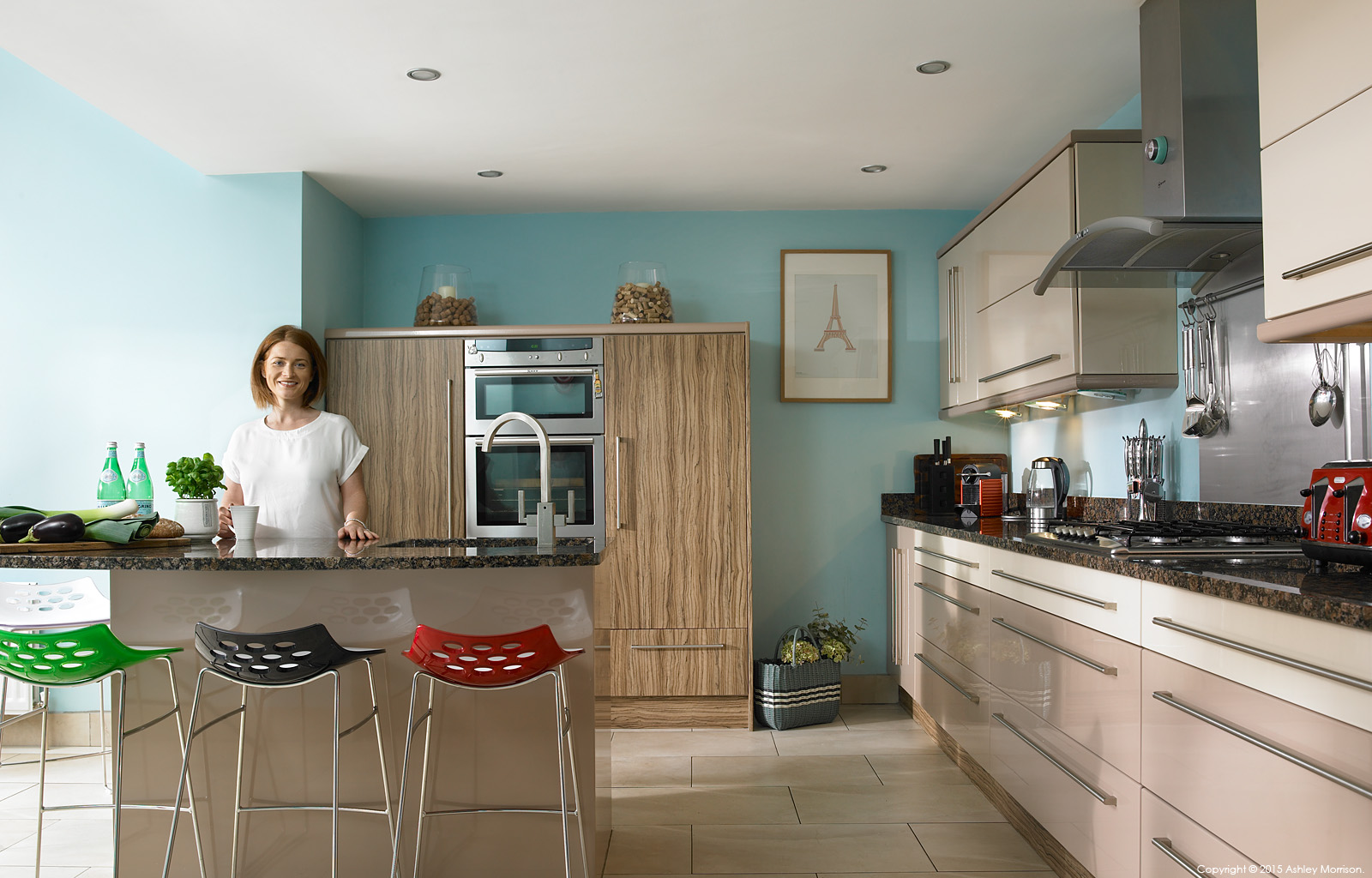 Lisa McCann in the kitchen of her detached house located in the Rosetta area of Belfast