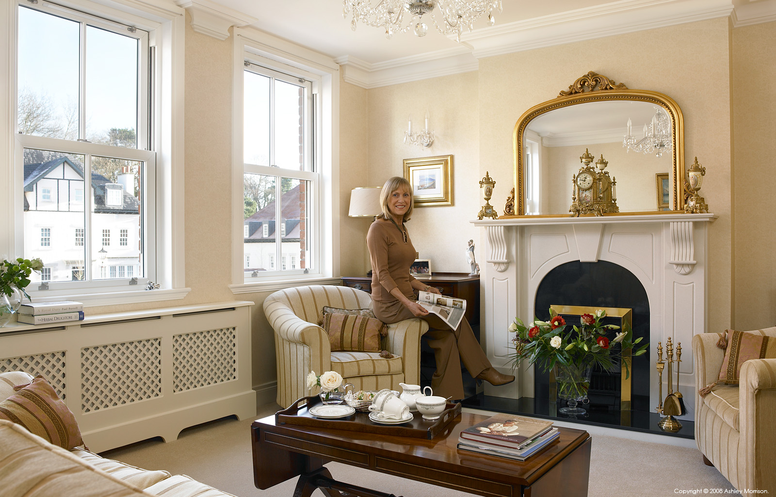 Ann O'Brien in the sitting room of her townhouse in Belfast by Ashley Morrison.