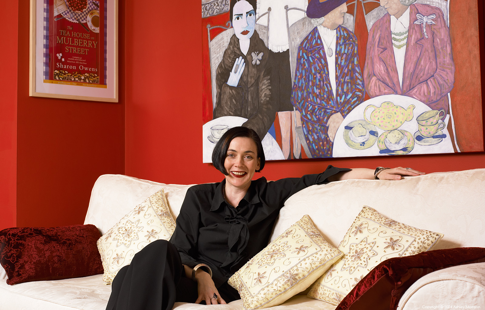 At home with artist & writer Sharon Owens in her modern bungalow in Belfast.