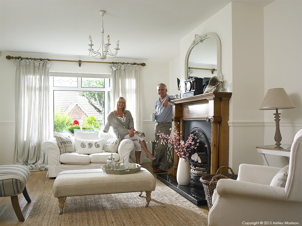 Pauline Bingham and Alastair in their detached chalet bungalow in the County Down town of Bangor.