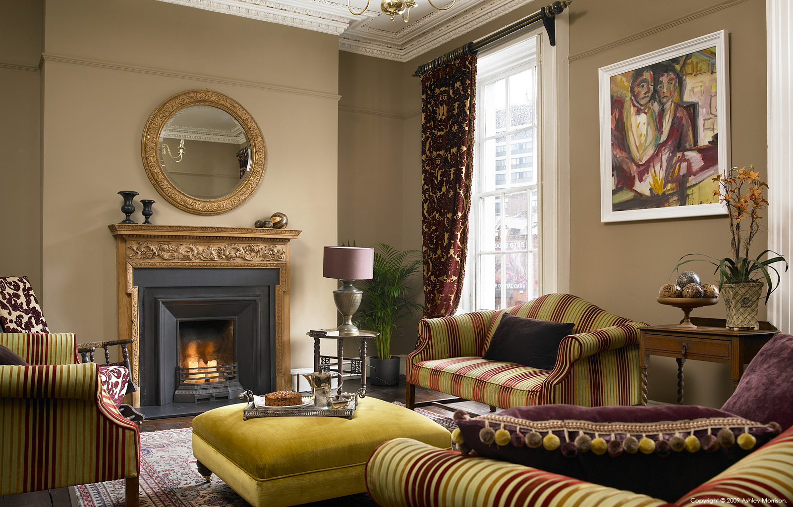 The sitting room in Andrew Brennan and Simon Croal's townhouse in Belfast.