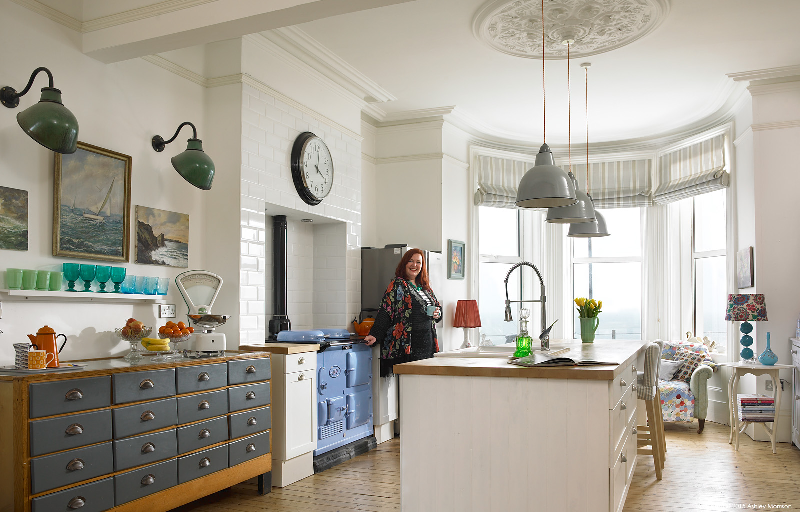 Keri Johnson in the kitchen of her townhouse which overlooks Ballyholme Bay in the County Down seaside town of Bangor.
