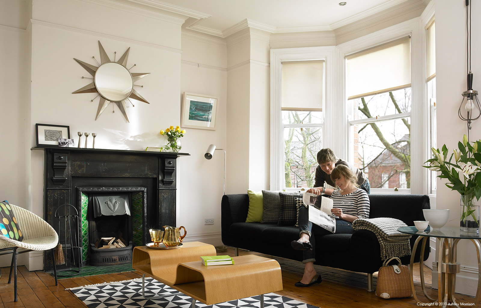 Mairead and Owen  McIntyre in the 2nd floor sitting room of their Victorian terrace in the university area of Belfast.