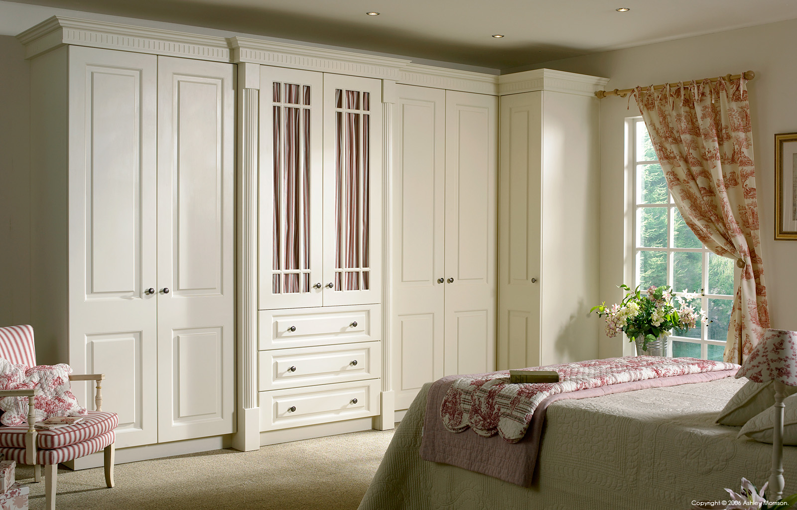 O&S doors bedroom set by Ashley Morrison and Marie McMillen.