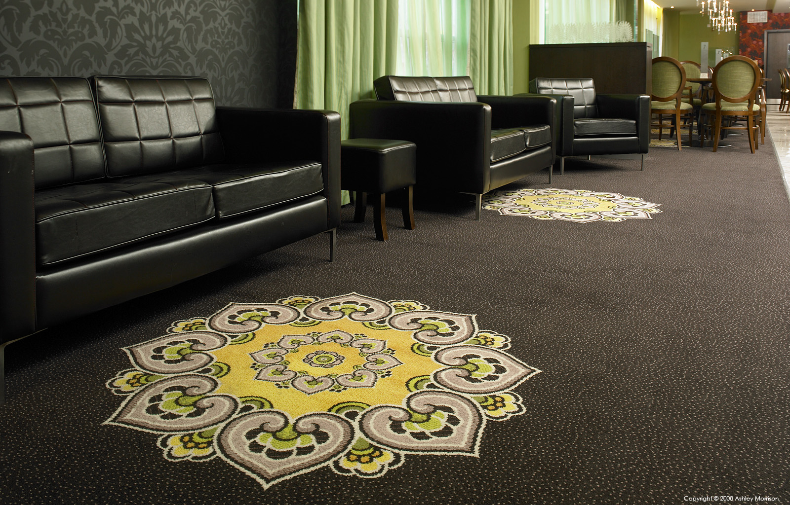 Hotel carpet by Ulster Carpet.