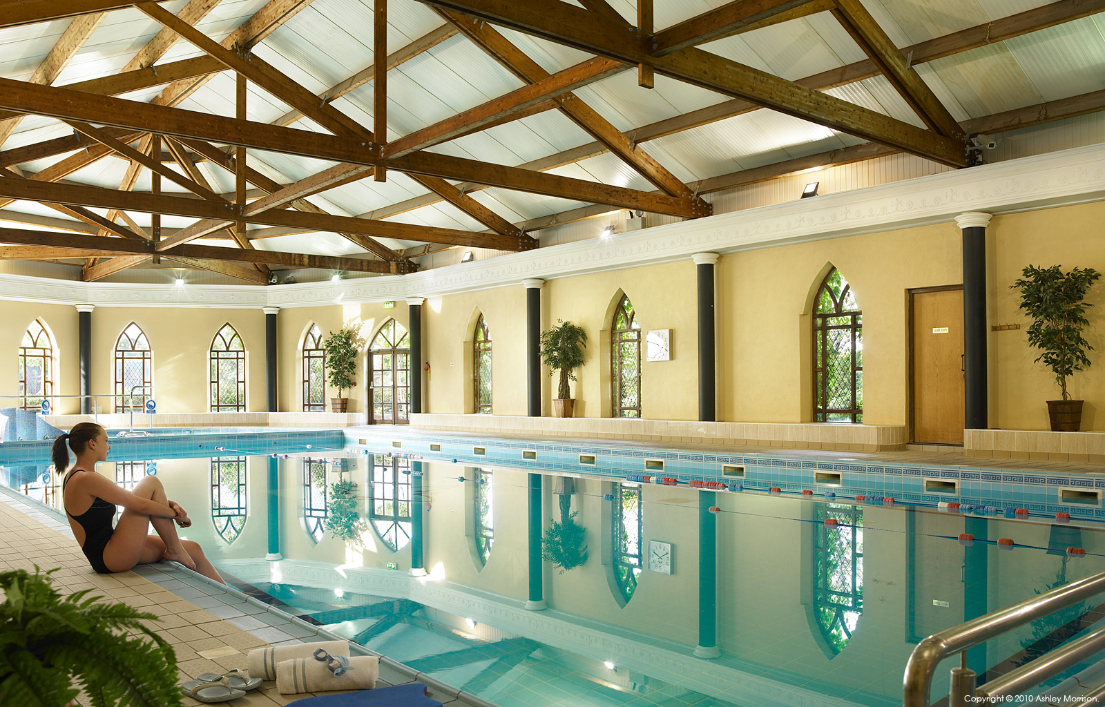 The swimming pool at the Abbey Court Hotel in County Tipperary town of Nenagh.