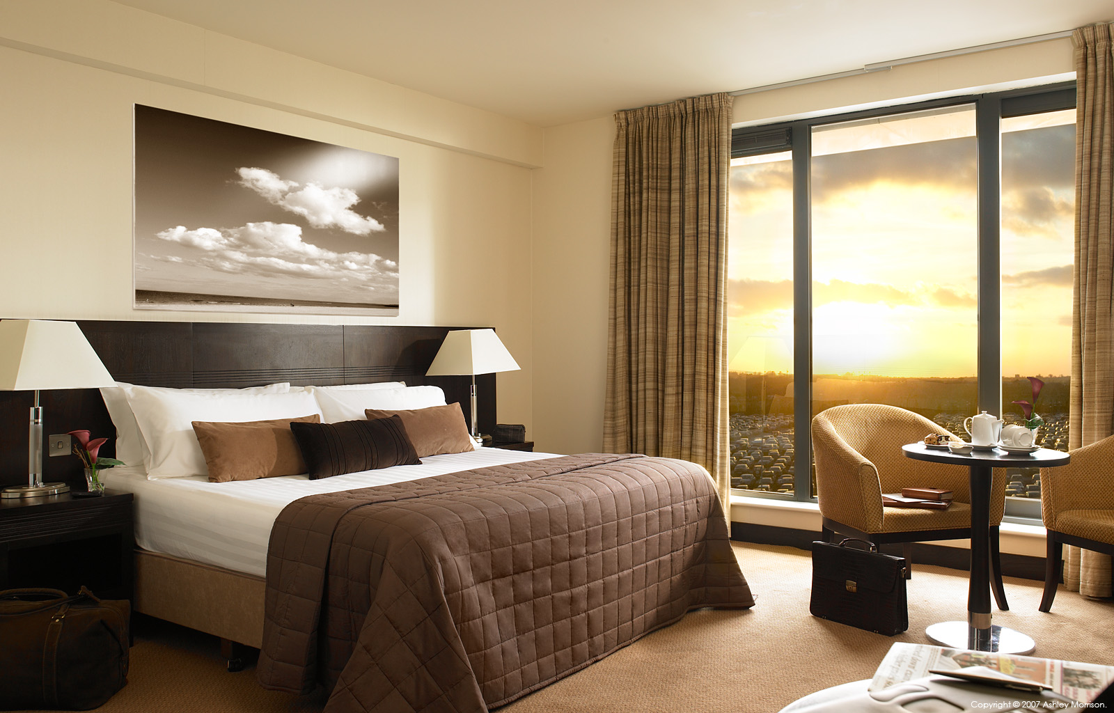 The Cloud's bedroom suite at the Carlton Hotel Dublin Airport by Ashley Morrison.