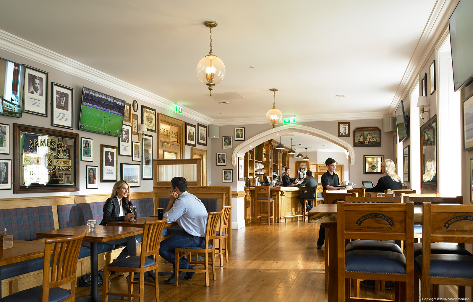 The Healy Mac's bar at the Breaffy House Resort in the County Mayo town of Castlebar.