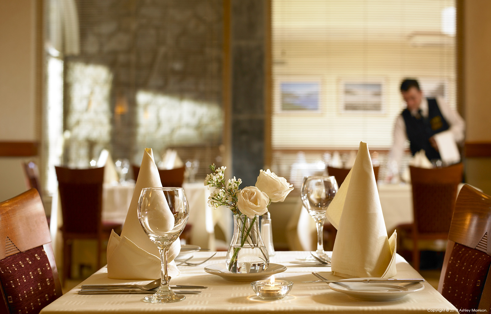 Deerfield restaurant at the Clare Inn Hotel in County Clare by Ashley Morrison.