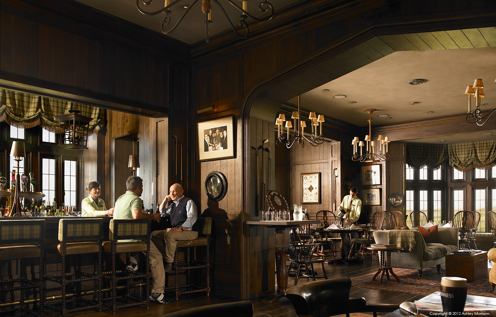 The bar in the Member's Clubhouse at the Trump International Golf Links & Hotel in County Clare by Ashley Morrison.