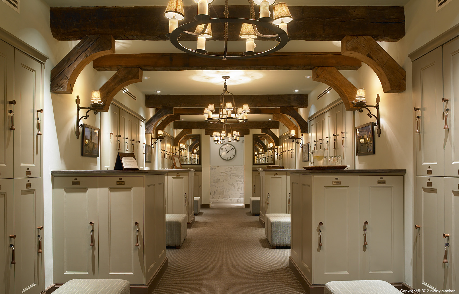 The Locker room in the Member's Clubhouse at the Trump International Golf Links & Hotel in County Clare.