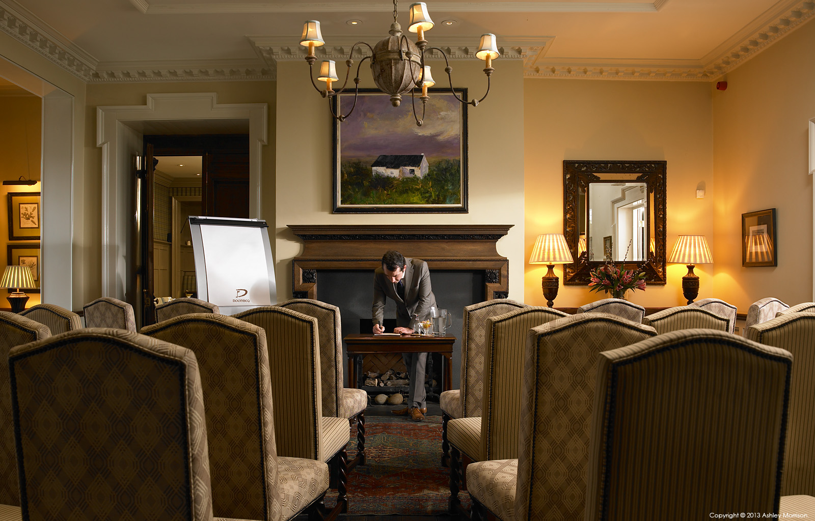 Meeting room at Doonbeg Golf & Spa Resort in County Clare by Ashley Morrison.