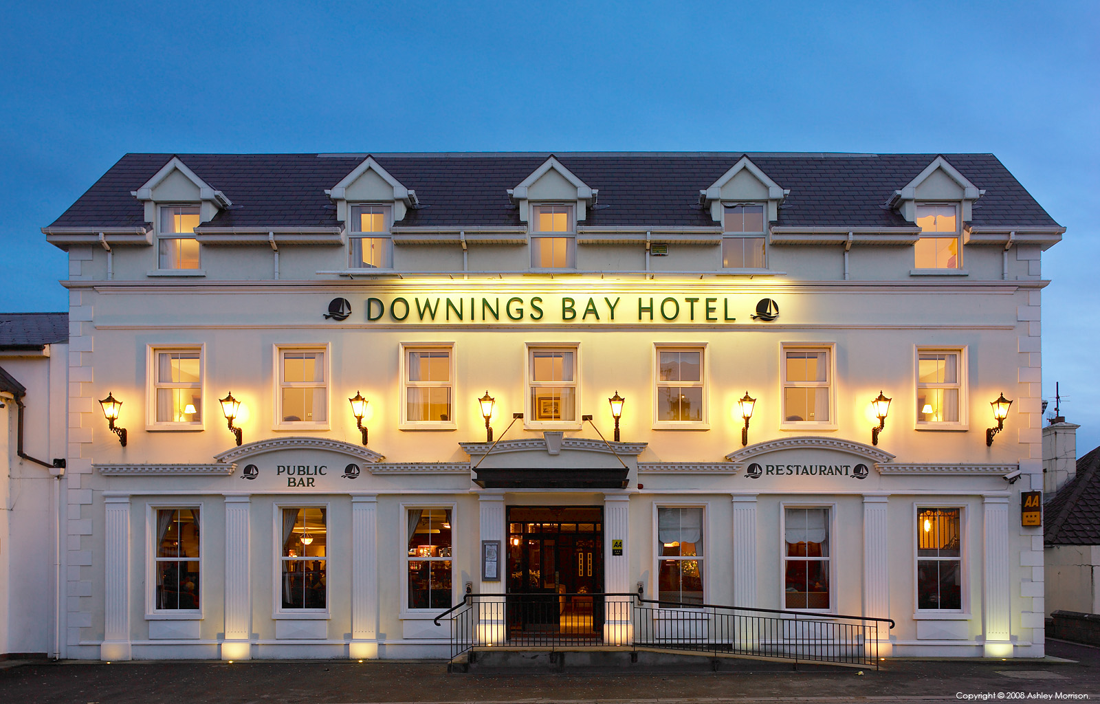 The exterior of the Downings Bay Hotel in Donegal by Ashley Morrison.