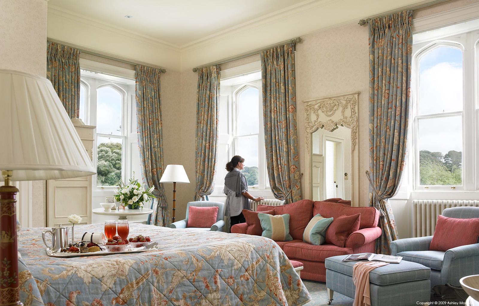 Tower bedroom suite at Dromoland Castle in County Clare by Ashley Morrison.