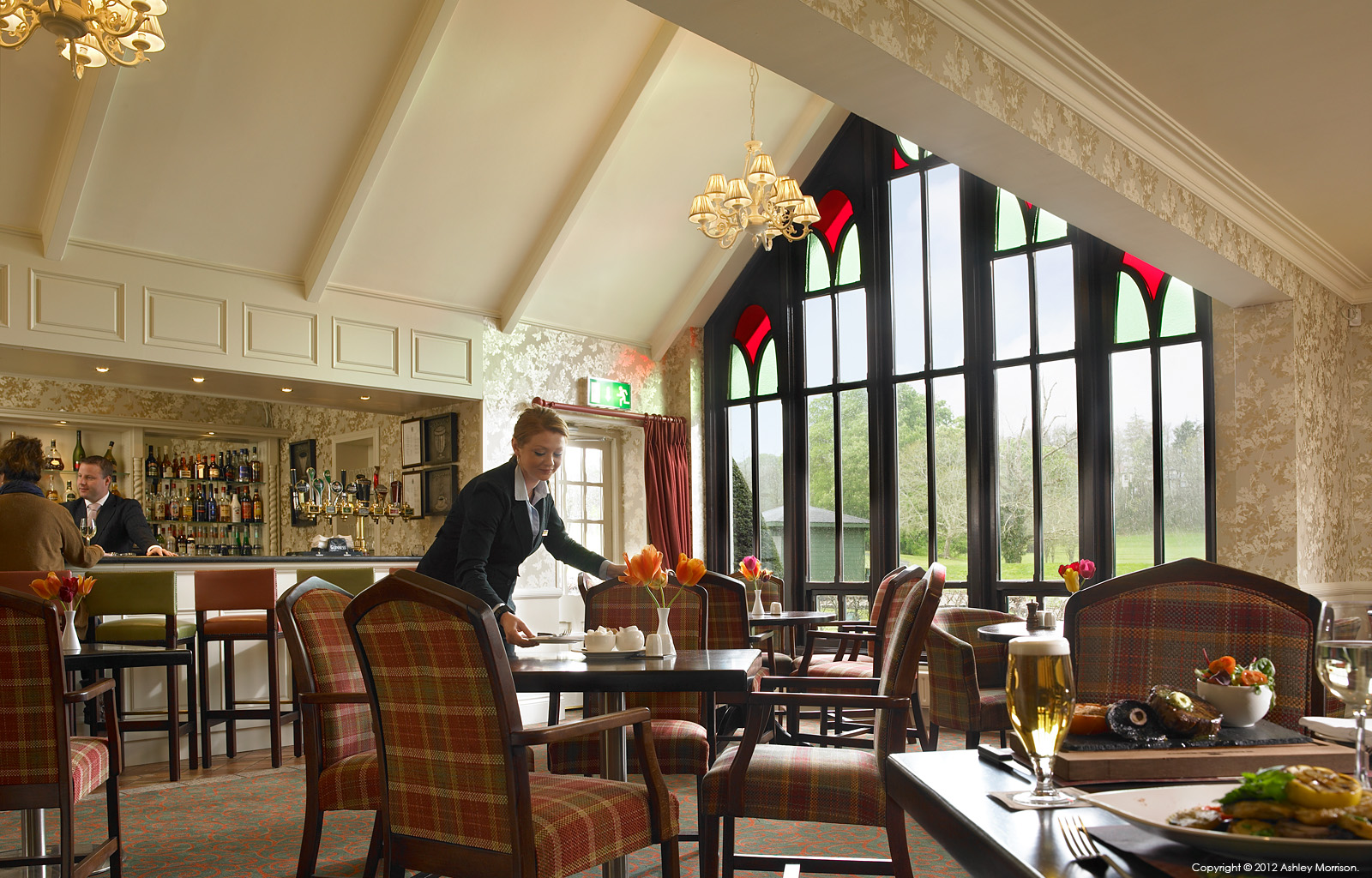 The Fig Tree restaurant in the Club House at Dromoland Castle in County Clare.