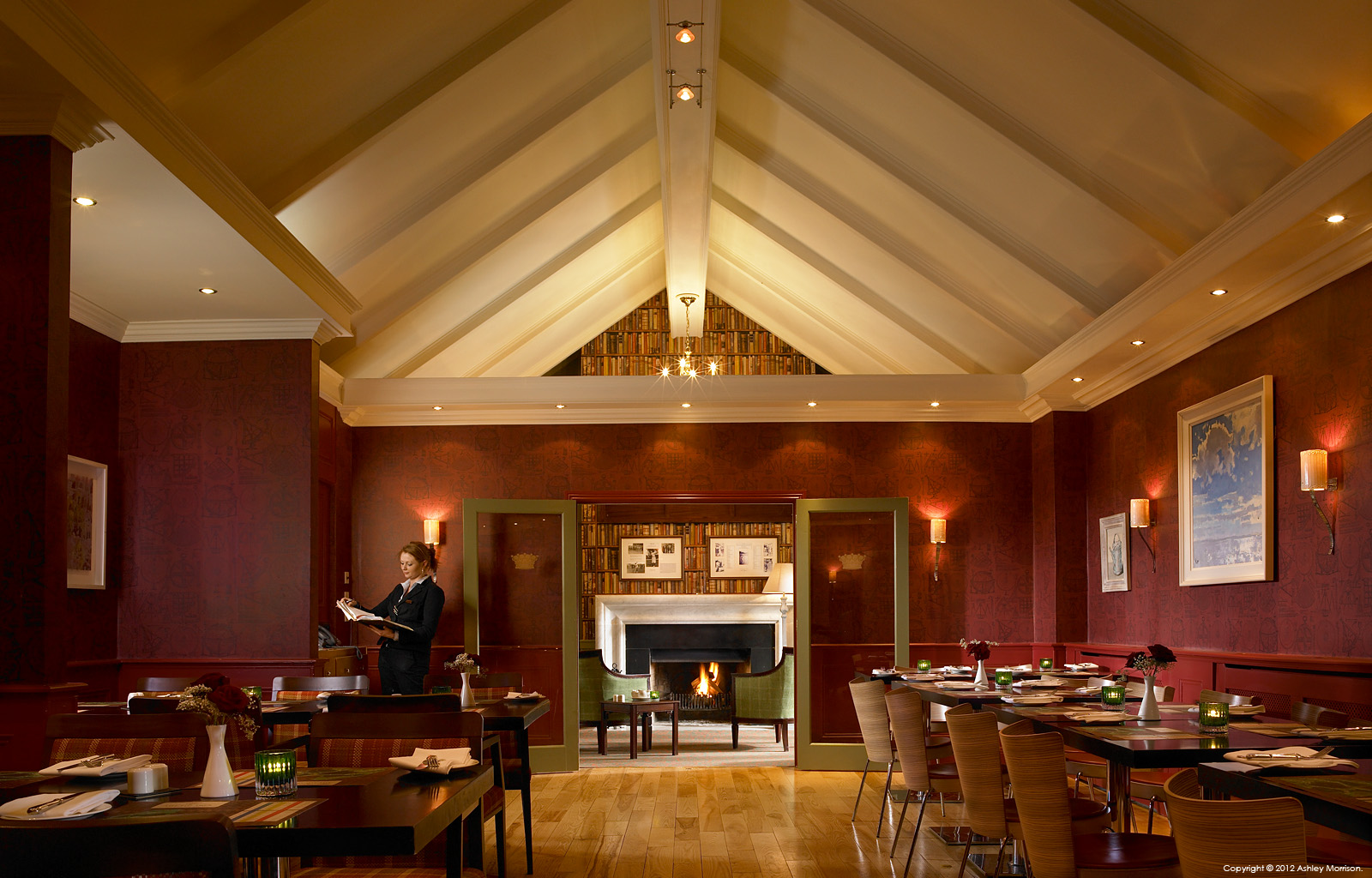The Fig Tree restaurant in the Club House at Dromoland Castle in County Clare