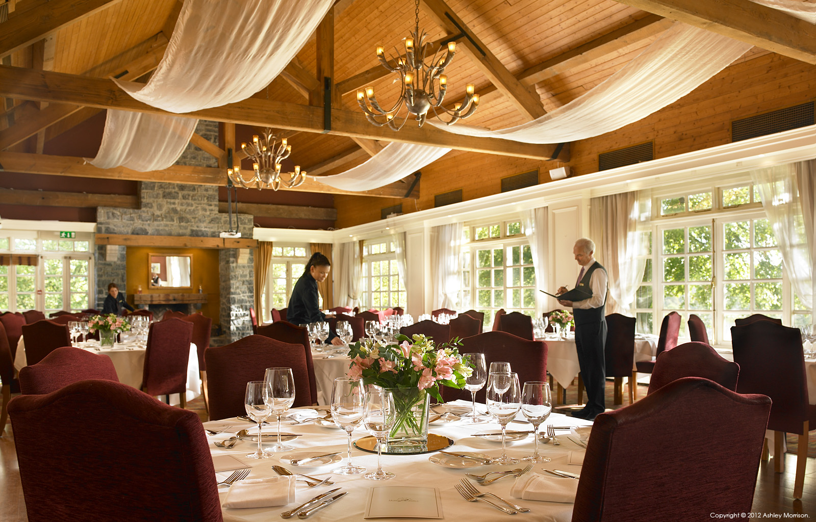 Kendals restaurant in the Clubhouse at Mount Juliet Country Estate in County Kilkenny by Ashley Morrison.