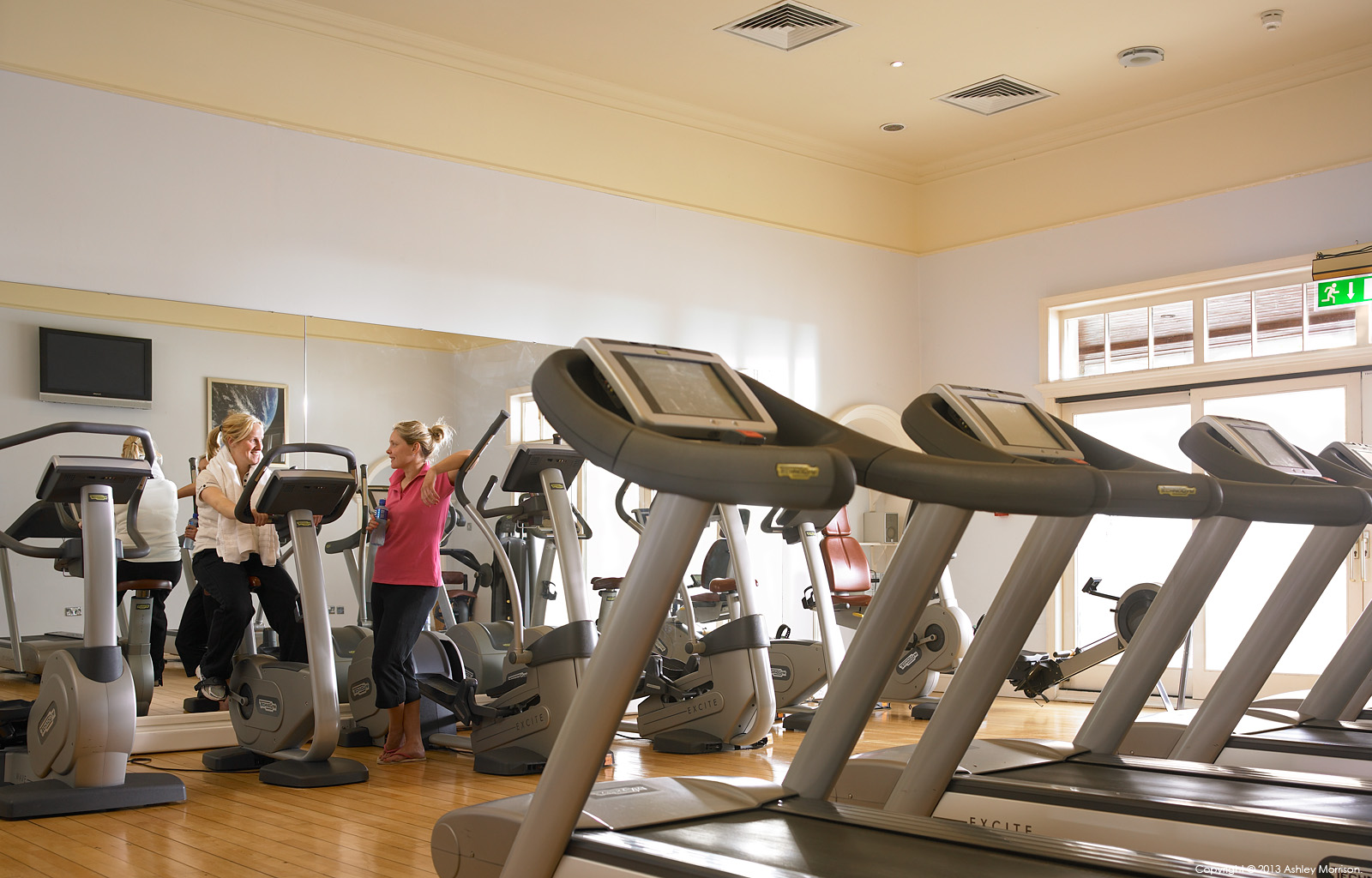 The gym in the Leisure Centre at Mount Juliet Country Estate in County Kilkenny.