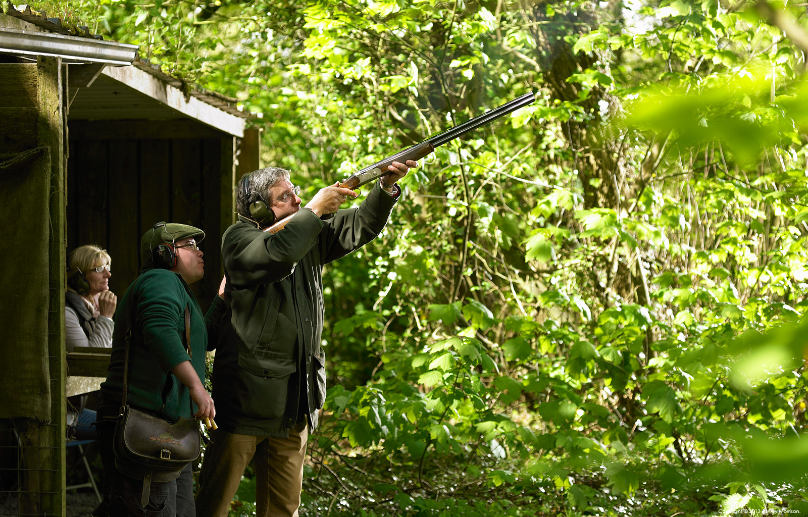 Clay pigeon shooting at Mount Juliet Country Estate in County Kilkenny by Ashley Morrison.
