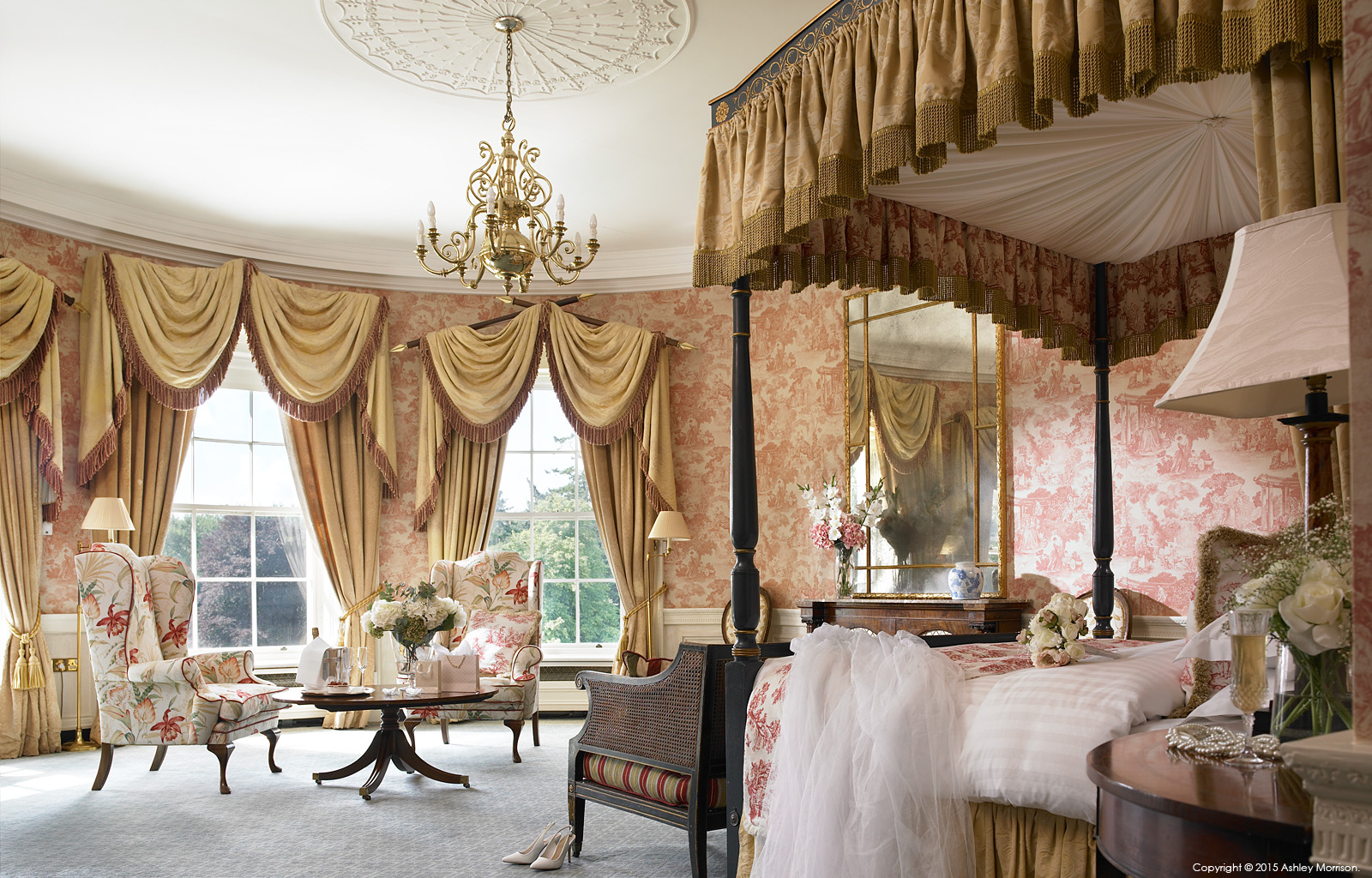 The Viceroy Suite at the Kildare Hotel Spa & Golf Club near Straffan in County Kildare.