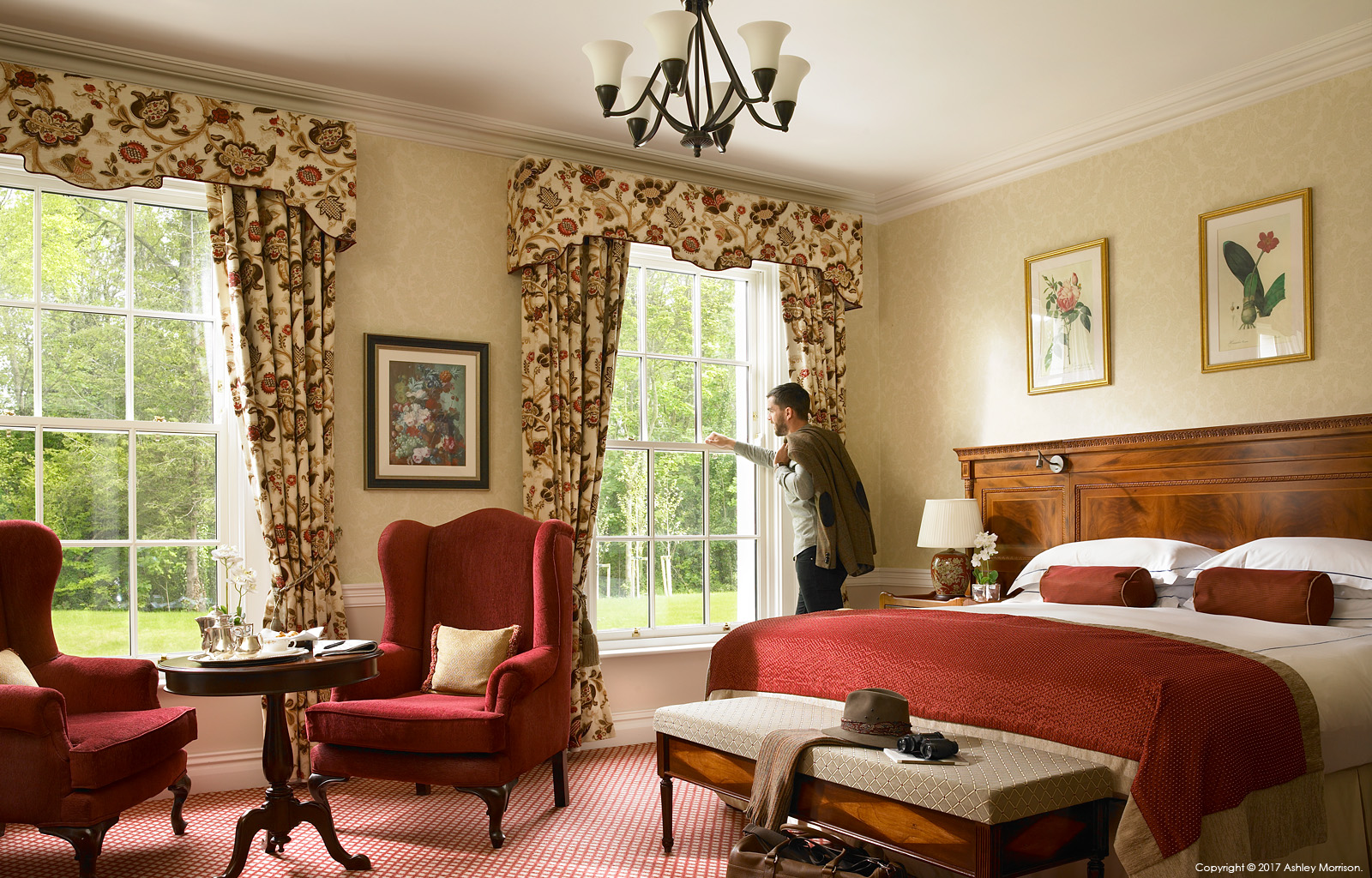 The Liffey Deluxe Woodland View bedroom at the Kildare Hotel, Spa & Country Club in County Kildare.