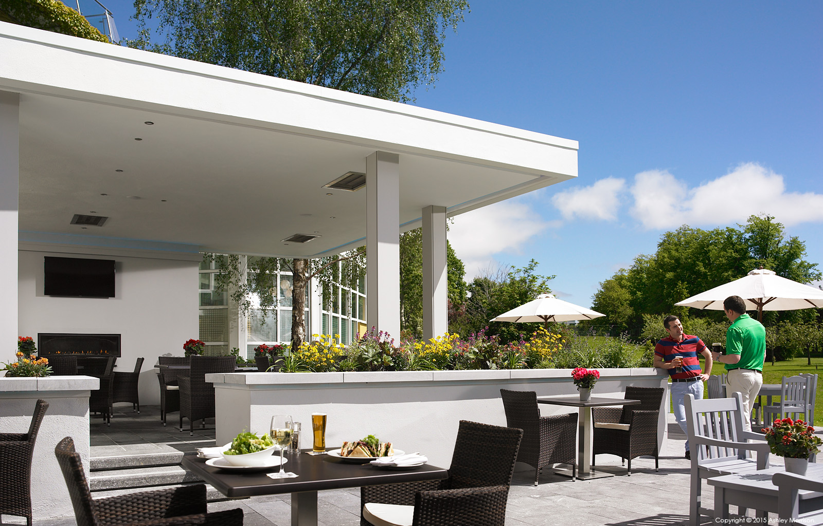 The Garden Terrace at the Killarney Park Hotel in the Irish county of Kerry.