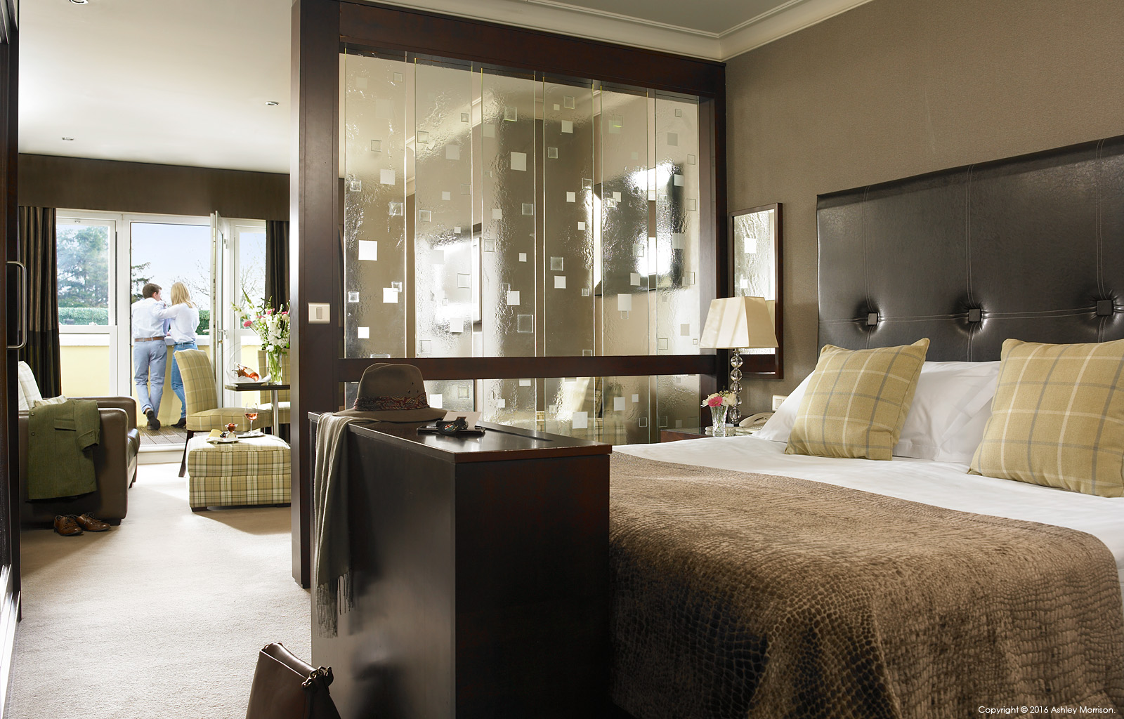 Junior Suite Contemporary bedroom at Killarney Park Hotel in the Irish County of Kerry.