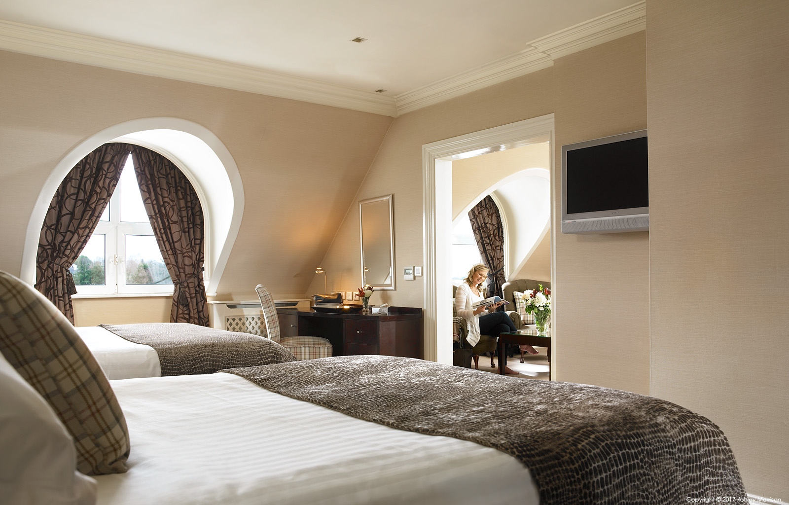 The Killarney Suite at the Killarney Park Hotel in the Irish County of Kerry.