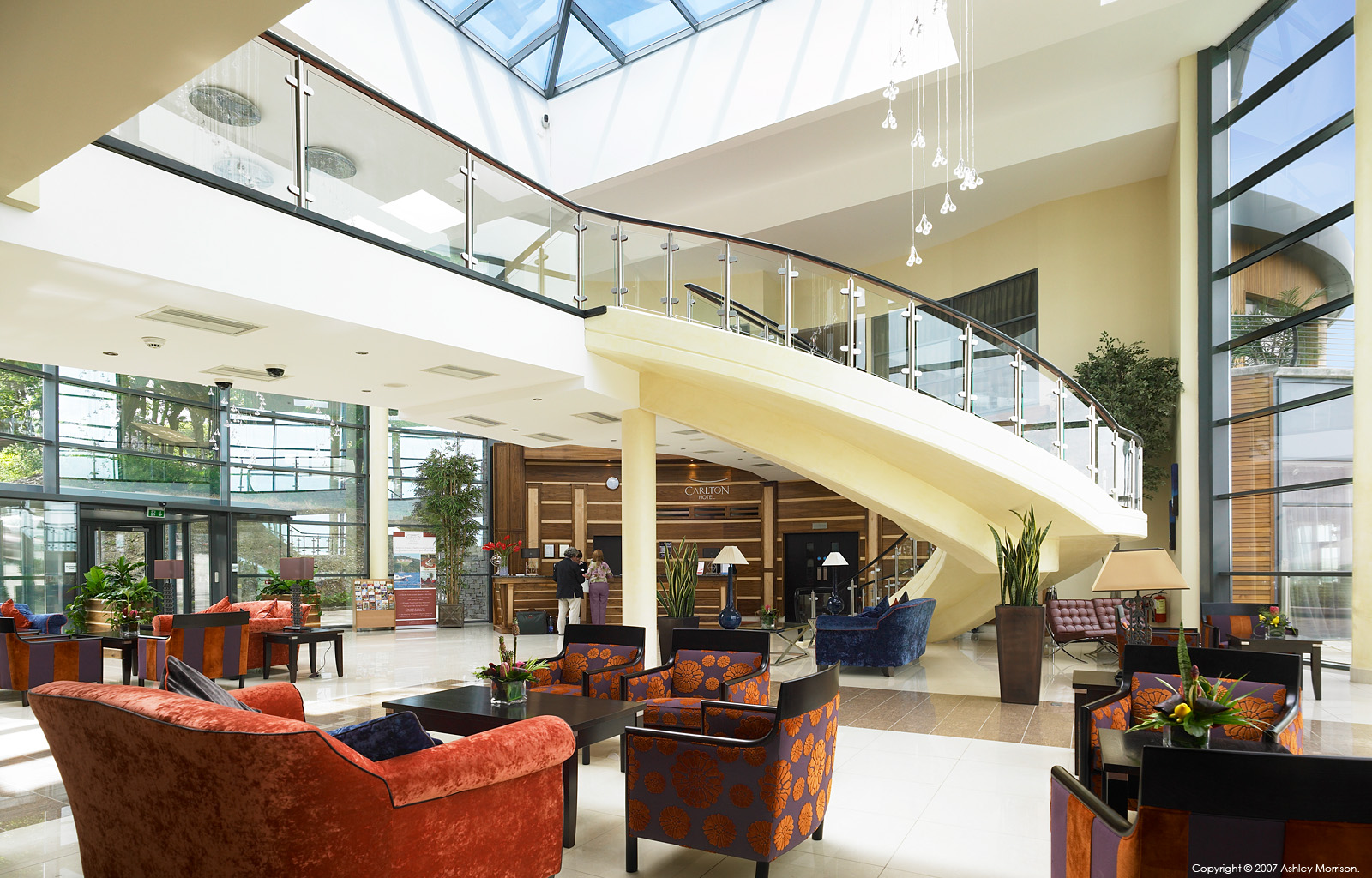 The Lobby & Reception area at the Macdonald Kinsale Hotel & Spa in County Cork.