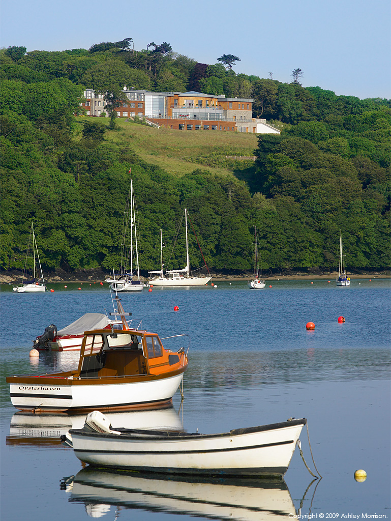 Looking across Oysterhaven Bay towards the Macdonald Kinsale Hotel & Spa in County Cork.