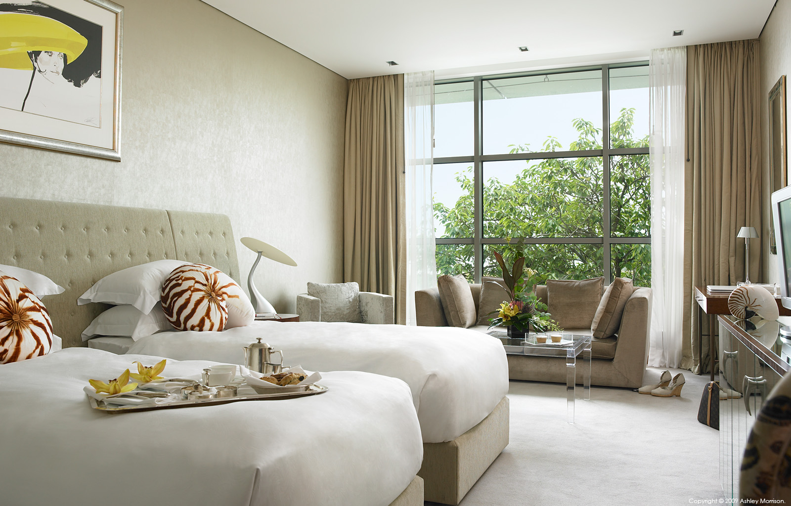 Deluxe twin bedroom suite at the g Hotel in Galway by Ashley Morrison and Marie McMillen.