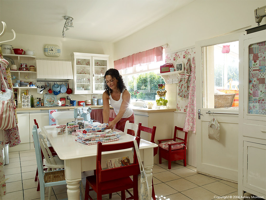 Vanessa Arran in the kitchen of her Victorian semi detached house in the County Down town of Bangor.