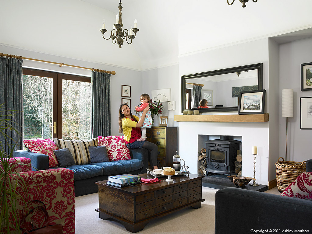 Kathryn Callaghan and her daughter in their detached bungalow near Killyleagh in County Down by Ashley Morrison.