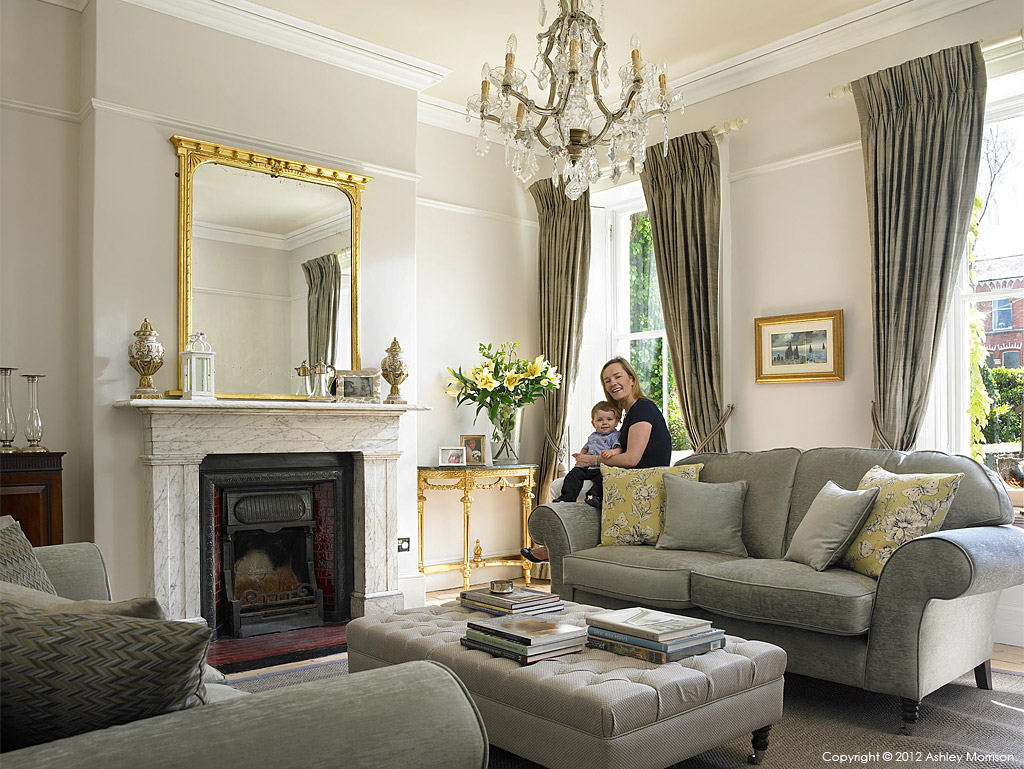 The sitting room in Karen and David Dalton's Victorian terrace in the Sandycove area of Dublin.